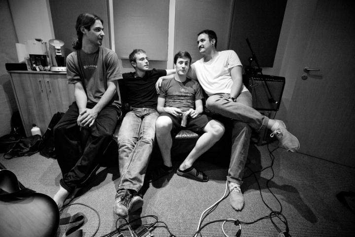Dunning Krueger Band recording in Hettenshausen, on June 25, 2011. (Photo by Janine Stengel©2011)